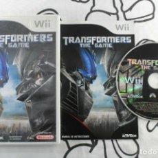 Videojuegos y Consolas: NINTENDO WII TRANSFORMERS THE GAME BUEN ESTADO PAL ESPAÑA. Lote 271574688