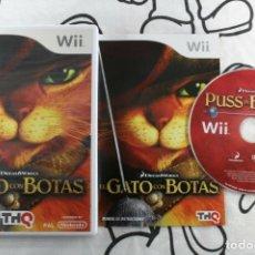 Videojuegos y Consolas: NINTENDO WII EL GATO CON BOTAS MUY BUEN ESTADO PAL ESPAÑA. Lote 271575988