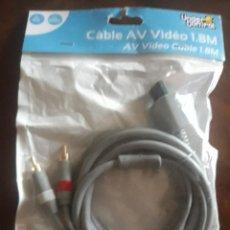 Videojuegos y Consolas: CABLE AV VIDEO 1.8 M WII/WIIU A ESTRENAR COMPATIBLE. Lote 273515543