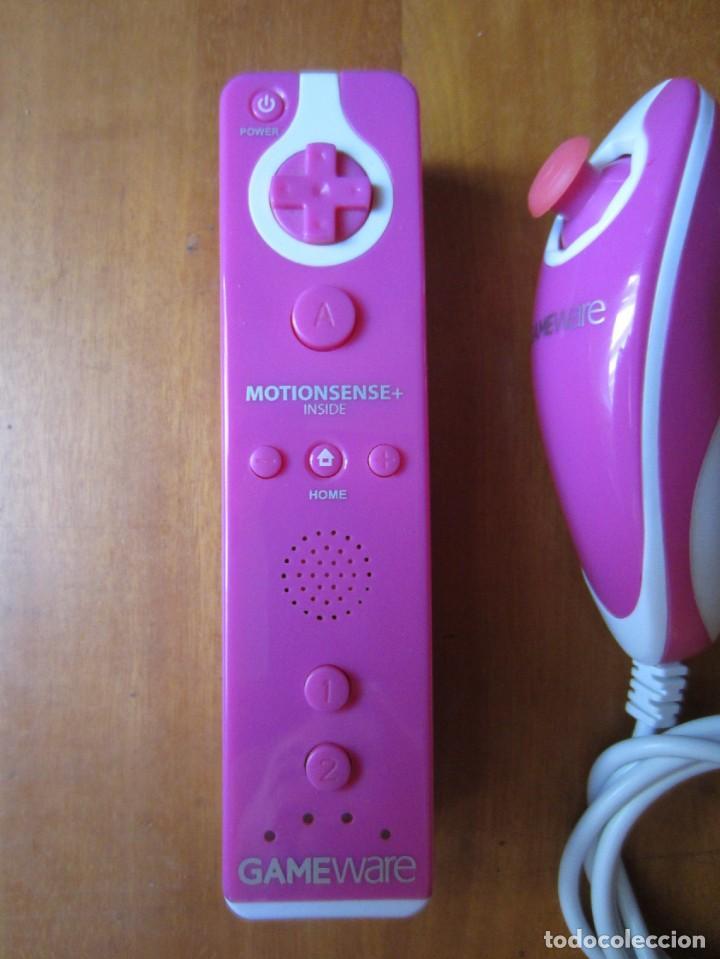 Videojuegos y Consolas: Mando Wii Motion Plus y Nunchuk Gameware Rosa - Foto 3 - 277031603