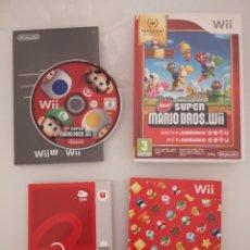 Videojuegos y Consolas: NEW SUPER MARIO BROS WII NINTENDO SELECT COMPLETO. Lote 277238793