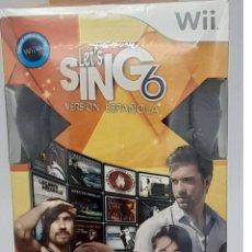 Videojuegos y Consolas: JUEGO WII LET´S SING 6 VERSIÓN ESPAÑOLA EN SU CAJA ORIGINAL. Lote 277620573