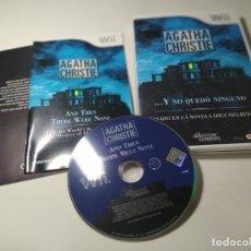 Videojuegos y Consolas: AGATHA CHRISTIE - Y NO QUEDO NINGUNO ( NINTENDO WII - WII U - PAL - ESP) (1). Lote 277712768