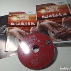 Videojuegos y Consolas: AGATHA CHRISTIE - MALDAD BAJO EL SOL ( NINTENDO WII - WII U - PAL - ESP) (1). Lote 277712833