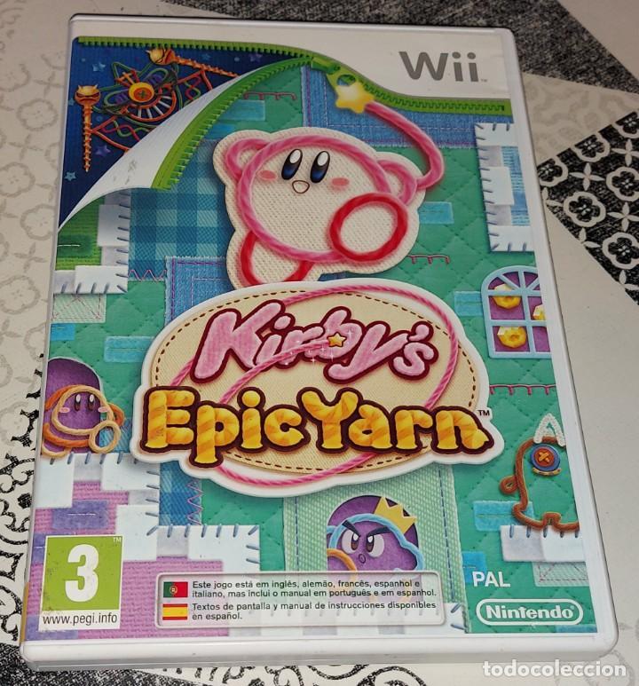 KIRBY KIRBY'S EPIC YARN NINTENDO WII PAL ESPAÑA COMPLETO (Juguetes - Videojuegos y Consolas - Nintendo - Wii)