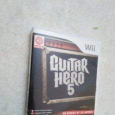 Videojuegos y Consolas: JUEGO WII GUITAR HERO 5. Lote 278421588