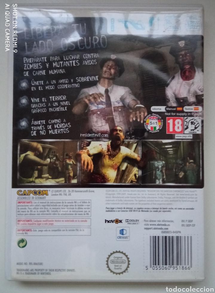 Videojuegos y Consolas: JUEGO RESIDENT EVIL THE DARKSIDE CHRONICLES WII PAL ESPAÑA COMPLETO - Foto 2 - 288085413