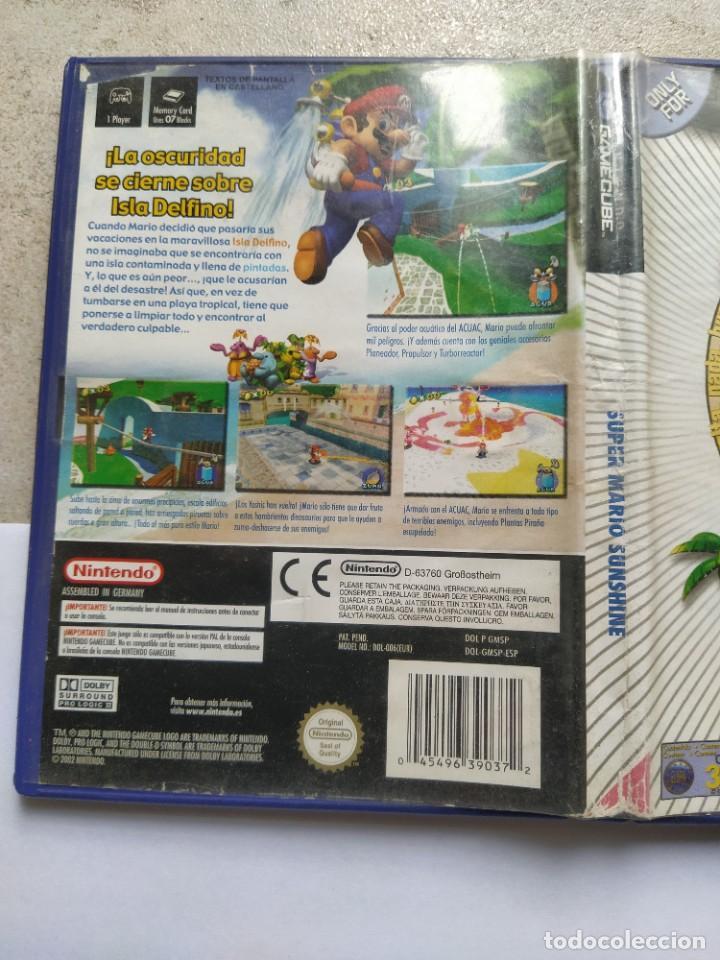Videojuegos y Consolas: SUPER MARIO SUNSHINE NINTENDO GAMECUBE GC PAL-ESPAÑA , ORIGINAL 100% - Foto 2 - 288473873