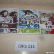 Videojuegos y Consolas: FIFA 08 + FIFA 11 + PRO EVOLUTION SOCCER 2012. Lote 289686973