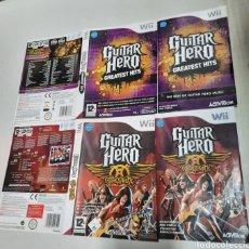 Videojuegos y Consolas: CARATULAS Y MANUALES GUITAR HERO. WII. Lote 292132623
