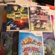 Videojuegos y Consolas: 3 JUEGOS WII (BEN 10 SKYLANDERS Y PES2011). Lote 293926523