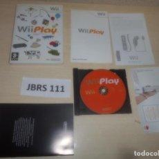 Videojuegos y Consolas: WII - WII PLAY , PAL ESPAÑOL , COMPLETO. Lote 294002123