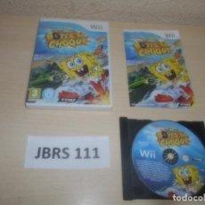 Videojuegos y Consolas: WII - BOB ESPONJA - BOTES DE CHOQUE , PAL ESPAÑOL , COMPLETO. Lote 294002523