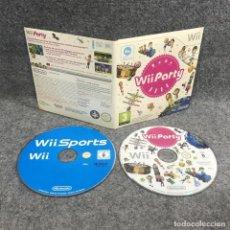Videojuegos y Consolas: WII PARTY+WII SPORTS NINTENDO WII. Lote 295382473