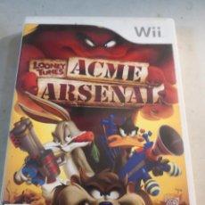 Videojuegos y Consolas: JUEGO WII NINTENDO LOONEY TUNES ACME ARSENAL. Lote 296558658
