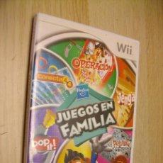 Videojuegos y Consolas: JUEGOS EN FAMILIA PLATAFORMA PARA NINTENDO WII. Lote 296705573
