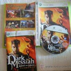 Videojuegos y Consolas: JUEGO XBOX 360 DARK MESSIAH SEMI NUEVO. Lote 27765908