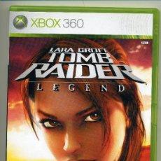 Videojuegos y Consolas: TOMB RAIDER - LARA CROFT - LEGEND - VIDEOJUEGO XBOX - CON MANUAL. Lote 30675103