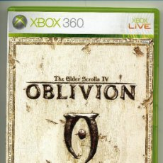 Videojuegos y Consolas: OBLIVION- VIDEOJUEGO XBOX 360 - CON MANUAL. Lote 30675134
