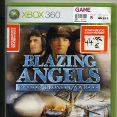 Videojuegos y Consolas: BLAZING ANGELS - VIDEOJUEGO XBOX 360 - CON MANUAL. Lote 30675246