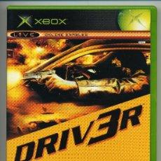 Videojuegos y Consolas: DRIVER - VIDEOJUEGO XBOX - CON MANUAL. Lote 30675318