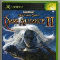 Videojuegos y Consolas: BALDURS GATE - DARK ALLIANCE II-VIDEOJUEGO XBOX - CON MANUAL. Lote 30675733