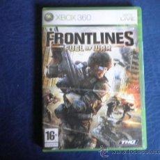 Videojuegos y Consolas: XBOX 360 FRONTLINES FUEL OF WAR. Lote 32937268
