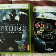 Videojuegos y Consolas: LAS CRONICAS DE RIDDICK : ASSAULT ON DARK ATHENA - XBOX 360 - INCLUYE LA 1ª PARTE REMASTERIZADA. Lote 34684029