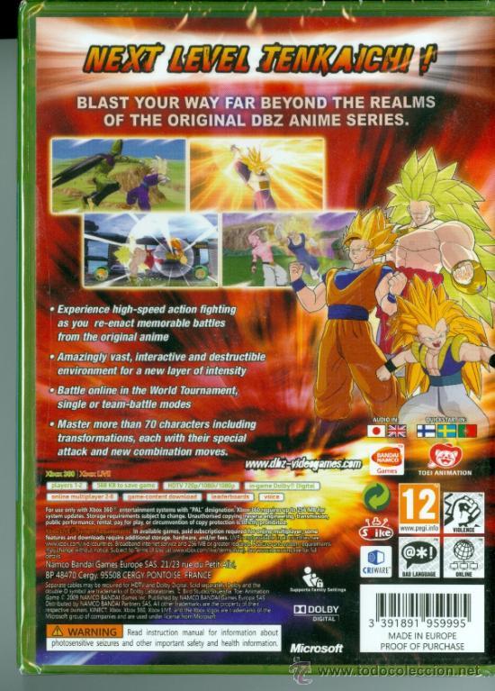 Dragon Ball Z Raging Blast Classics [XBox 360] nuevo y precintado PAL UK  (disco idéntico al PAL ES)