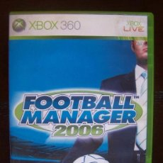 Videojuegos y Consolas: FOOTBALL MANAGER 2006 - XBOX 360 PAL ESPAÑA (4K). Lote 39052865