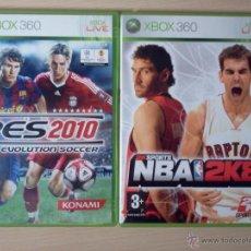 Videojuegos y Consolas: LOTE PES 2010 + NBA 2K8 XBOX 360. Lote 40777142