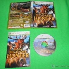 Videojuegos y Consolas: CABELA'S BIG GAME HUNTER - XBOX 360 - CON INSTRUCCIONES - PAL - CABELA - CABELAS. Lote 41095438