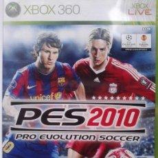 Videojuegos y Consolas: PES 2010 PRO EVOLUTION KONAMI XBOX JUEGO EN LINEA. Lote 41073332