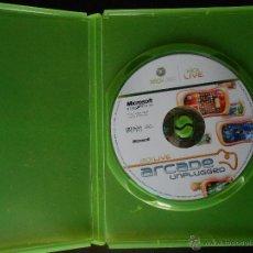 Videojuegos y Consolas: XBOX LIVE ARCADE UNPLUGGED - XBOX 360 - SOLO DISCO Y CAJA (4K). Lote 42936360