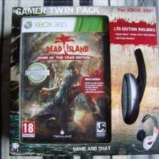Videojuegos y Consolas: DEAD ISLAND GAME OF THE YEAR GAMER TWIN PACK - A ESTRENAR - XBOX 360 - EDICION ESPAÑA -CON AURICULAR. Lote 43497840