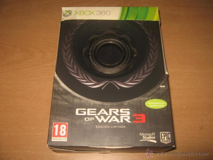 GEARS OF WAR 3 EDICION LIMITADA XBOX 360 PAL ESPAÑA (Juguetes - Videojuegos y Consolas - Microsoft - Xbox 360)