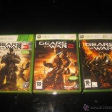 Videojogos e Consolas: 3 JUEGOS GEARS OF WAR 1 2 Y 3 XBOX 360 PAL ESPAÑA COMPLETOS EPIC. Lote 45516410