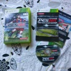 Videojuegos y Consolas: JUEGO XBOX 360 PES 2011. Lote 46872913