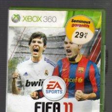 Videojuegos y Consolas: JUEGO PARA XBOX 360 · FIFA 11. Lote 47081902