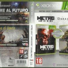 Videojuegos y Consolas: METRO 2033/DARKSIDERS DOUBLE PACK JUEGO XBOX 360. Lote 48522687