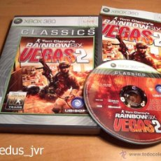 Videojuegos y Consolas: TOM CLANCY'S RAINBOW SIX VEGAS 2 XBOX 360 PAL COMPLETO EN ESPAÑOL COMO NUEVO. Lote 50731466