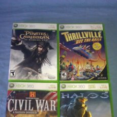 Videojuegos y Consolas: LOTE DE 4 JUEGOS NTSC PARA CONSOLA XBOX 360 - HALO 3 PIRATES OF THE CARIBBEAN CIVIL WAR ETC -. Lote 118347414