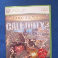 Videojuegos y Consolas: XBOX 360 - CALL OF DUTY 3 EDICIÓN GOLD - PAL ESPAÑA. Lote 51457285