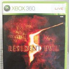 Videojuegos y Consolas: VIDEOJUEGO RESIDENT EVIL 5. JUEGO DE XBOX 360 DE CAPCOM. PAL. ACCIÓN, TERROR, ZOMBIE.. Lote 61358318