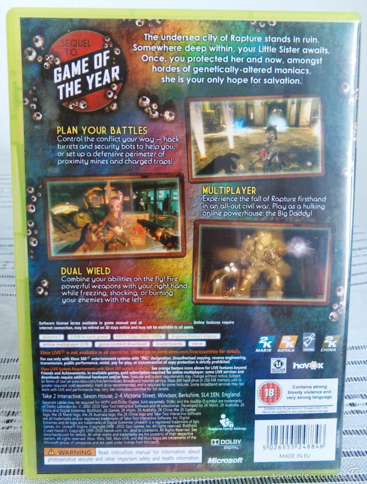 Videojuegos y Consolas: Videojuego Bioshock 2. Juego de Xbox 360 de 2K Games. PAL. Edición UK, Compatible. - Foto 4 - 61358534