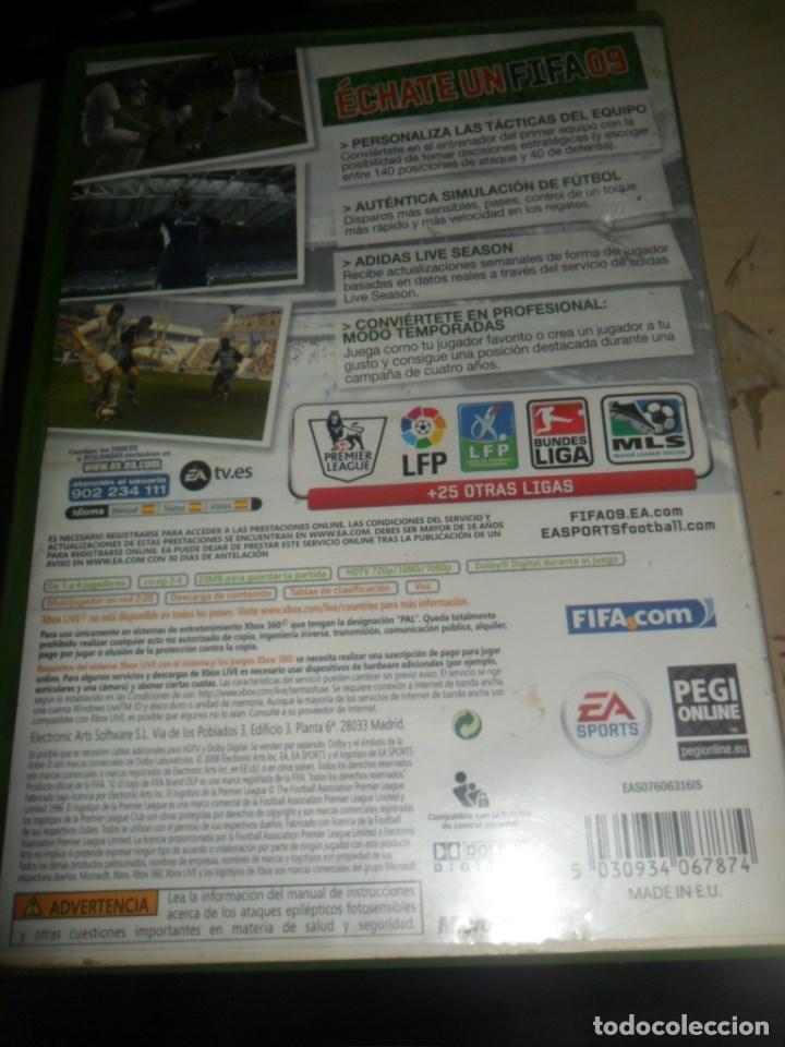 Videojuegos y Consolas: XBOX 360 - JUEGO FIFA 09 - EA SPORTS LFP VIDEOJUEGO OFICIAL - Foto 3 - 62172296