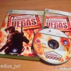 Videojuegos y Consolas: TOM CLANCY'S RAINBOW SIX VEGAS JUEGO PARA MICROSOFT XBOX 360 PAL COMPLETO EN ESPAÑOL. Lote 62246704