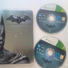 Videojuegos y Consolas: BATMAN ARKHAM ORIGINS STEEL CASE CAJA METALICA PAL MICROSOFT XBOX 360 CASTELLANO. Lote 67869637