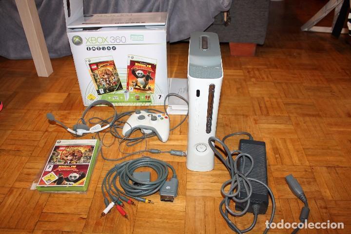 XBOX 360 COMPLETA 1 MANDO 60 GB HDD 2 JUEGOS EN CAJA ORIGINAL MICROSOFT (Juguetes - Videojuegos y Consolas - Microsoft - Xbox 360)