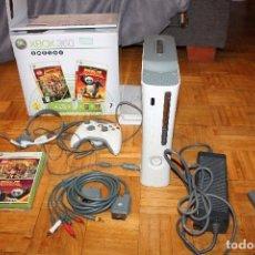Videojuegos y Consolas: XBOX 360 COMPLETA 1 MANDO 60 GB HDD 2 JUEGOS EN CAJA ORIGINAL MICROSOFT. Lote 70057321